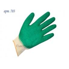 Перчатки х/б, латексное покрытие (одинарный облив), 13кл (Континент-Сити)