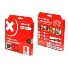 "Уплотнитель ""D"" коричневый 9х8мм 6м STARFIX (SF1012-02)"