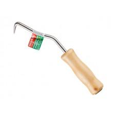 Крюк для вязки арматуры 210мм ВОЛАТ (деревянная рукоятка)
