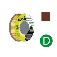 """Уплотнитель """"D"""" коричневый 100м ZOOM CLASSIC"""