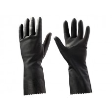 Перчатки КЩС латексн. защитные промышлен., р-р 8/M, К50 Щ40, черные, JetaSafety (Защитные промышленные перчатки из латекса. Черные Р-р: M, кислотам (д