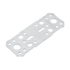 Пластина крепежная 130х53 белый цинк Цвiк (Фактический размер изделия 123*46мм, толщина 1,7мм) (ЦВIК)