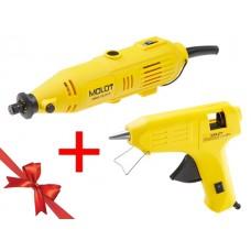 Гравер электрический MOLOT MMG 3215 E в чем.+ аксессуары + АКЦИЯ! (клеевой пистолет MOLOT) (клеевой пистолет MOLOT в подарок!)