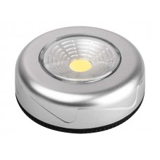Светильник светодиодный TF3-L1W-sr (серебр.) ФАЗА (ПУШЛАЙТ (включается нажатием)) (ФАZА)