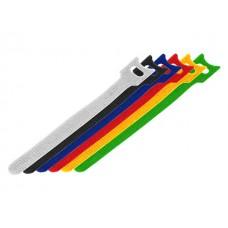Набор хомутов многоразовых на липучке 150 x 12 мм, цветная (упак. 12 шт) REXANT