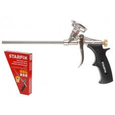 Пистолет для монтажной пены STARFIX (в комплекте 2 насадки)