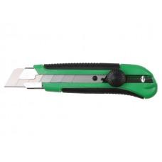 Нож пистолетный с выдвижным лезвием 25мм ВОЛАТ (корпус ABS, TPR покрытие, с магнитом)