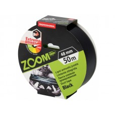 Лента армированная клейкая 48ммх50м ZOOM (черная 250 мкм)
