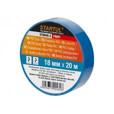 Изолента ПВХ 18ммх20м синяя STARTUL PROFI (ST9046-2) (130 мкм)