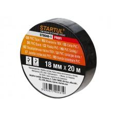 Изолента ПВХ 18ммх20м черная STARTUL PROFI (ST9046-1) (130 мкм)