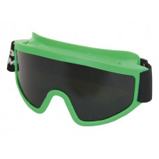 Очки закрытые панорамные СОМЗ ЗП2 PANORAMA зеленые PC StrongGlass (РС - поликарбонатное стекло, непрямая вентиляция, светофильтр - 3)