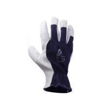 Перчатки комбинированные кожанные, цельная ладонь р-р 9/L, JetaSafety (свободная манжета) (JETA SAFETY)