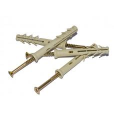 Дюбель-гвоздь 10х100 мм потай (50 шт в зип-локе) (WAVE)