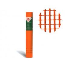 Стеклосетка штукатурная 5х5, 1мх50м, 160, оранжевая, DIY (разрывная нагрузка 1300Н/м2) (LIHTAR)