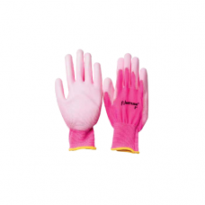 Перчатки UNITRAUM универсальные (розовые) с полиуретановым покрытием